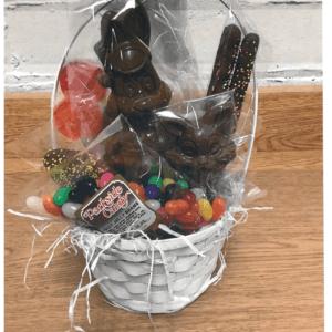 White Wicker Easter Basket